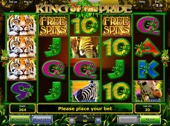 vlt King of the Pride gratis