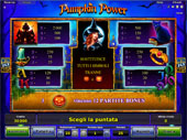 tabella pagamenti vlt Pumpkin Power