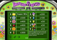 paytable slot online beetle frenzy