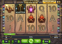 griglia slot online egyptian heroes