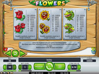 tabella pagamenti slot machine flowers