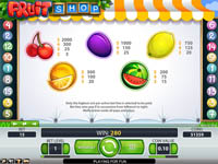 paytable slot fruit shop