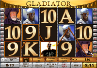 schermata slot machine gladiator