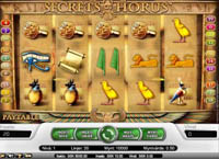 griglia slot machine the secrets of horus