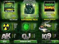 tabella pagamenti slot machine the incredible hulk 50 lines