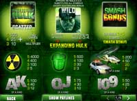 tabella vincite slot online the incredible hulk