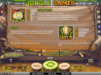 paytable slot machine jungle games