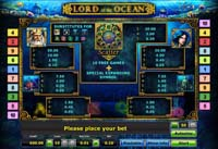 paytable vlt lord of the ocean