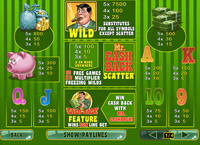 paytable slot online mr cashback