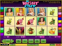 griglia slot machine a night out