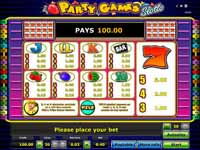 paytable party games slotto