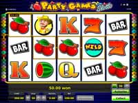 schermata slot party games slotto