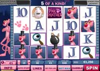 griglia slot pink panther