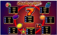 paytable vlt sizzling hot