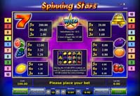slot machine spinning stars