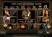 tabella vincite slot online the mummy