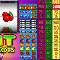 paytable slot machine fruit slots