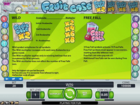paytable slot machine fruit case