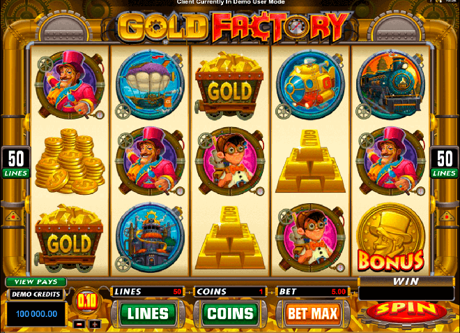 slot gratis gold factory