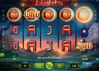 griglia slot machine lights