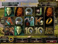 schermo slot the lord of the rings