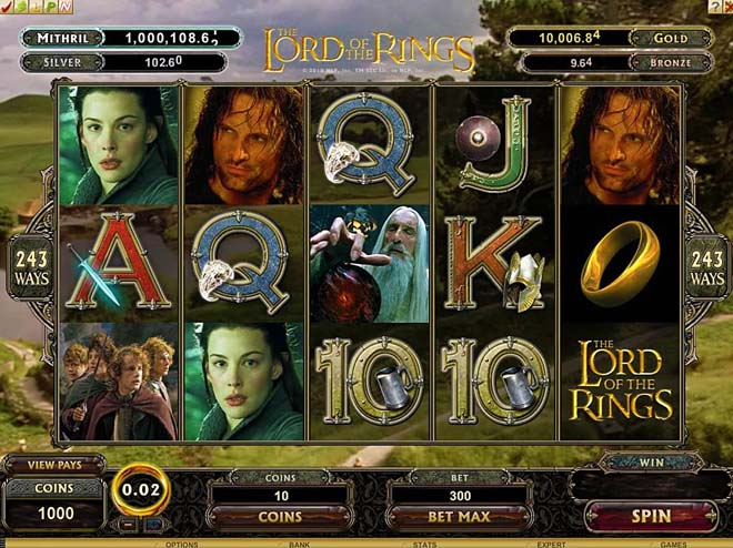 slot the lord of the rings gratis