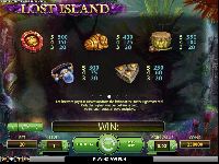 tabella pagamenti slot machine lost island
