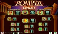 paytable slot pompeii