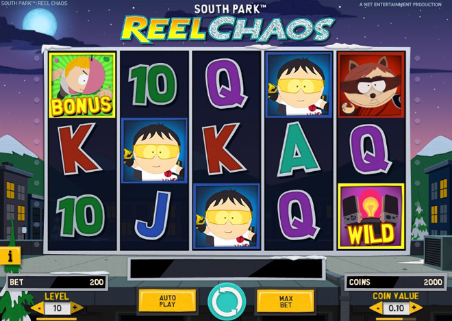 demo slot machine south park reel chaos