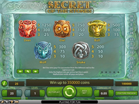 tabella vincite slot online secret of the stones