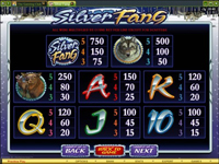 paytable slot online silver fang