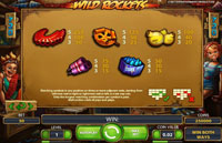 paytable slot machine wild rockets