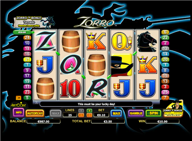 demo slot machine zorro
