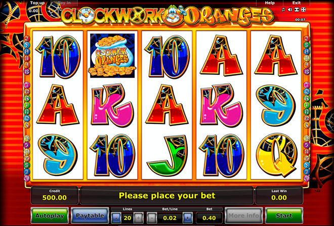 demo vlt clockwork oranges gratis