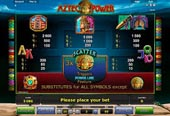 paytable slot aztec power