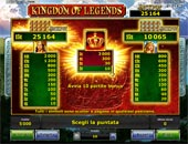 tabella pagamenti vlt Kingdom of Legends