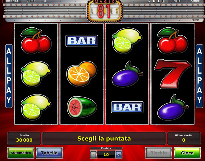 vlt gratis Magic 81 Lines