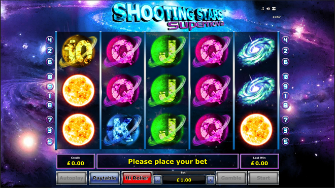 vlt gratis shooting stars supernova